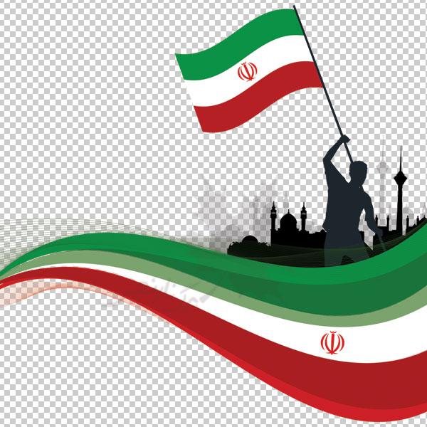 طرح پرچم ایران وکتور لایه باز